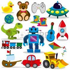 Eine Reihe von bunten Cartoon Spielzeug Stockfoto - 20614105