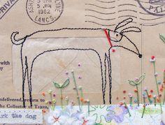 hensteethart blogspot - envelope art....