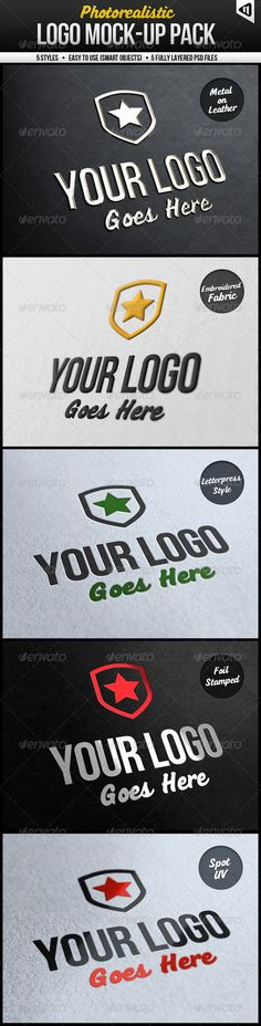 Photorealistic Logo Mock-Up Pack by GraphicAssets.deviantart.com on @DeviantArt