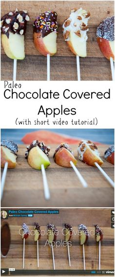 Paleo Chocolate Covered Apples