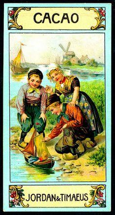 ♥German Tradecard - Dutch Children
