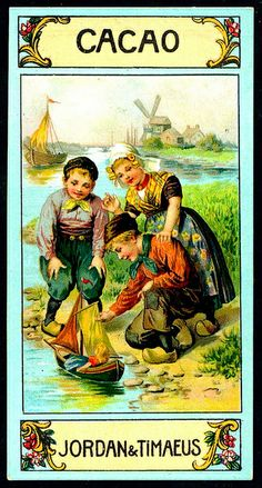 ♥German Tradecard - Dutch Children