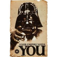 Amazon.com: (24x36) Star Wars Movie Your Empire Needs You Darth Vader Poster Print