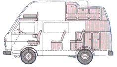 seating configurations Land Rover Defender, Trailers, Vw Wagon, Vw Lt, T2 T3, Diy Rv, Ford, Volkswagen Transporter, Camper Conversion