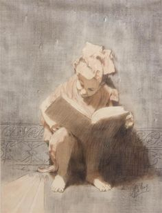 Portrait of a Girl Reading, Conger A. Metcalf. American (1914 - 1998) - Charcoal - I love this for the realism mixed with unrealism. That just always grabs me.