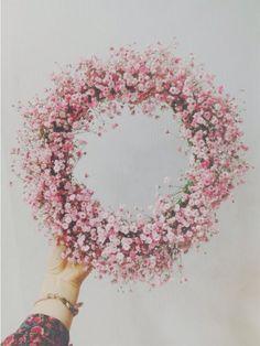 물들인 안개꽃으로 리스만들기 : 네이버 블로그