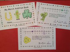 March Addition Story Problem Book-These word problems are great for guided math groups, homework, math center activities, or morning work. Your students will LOVE these FUN story problems for March - 2 pages per problem to provide differentiation - Kindergarten and first grade addition word problems $