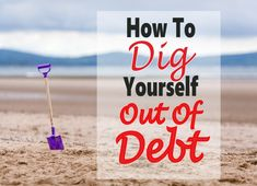 How To Dig Yourself Out of Debt ~ Paying off debt is really difficult, especially when living from paycheck to paycheck. But it can be done, click over to read how. debt   debt payoff   money   paying off debt   debt free #debt #money #finance #debtfree