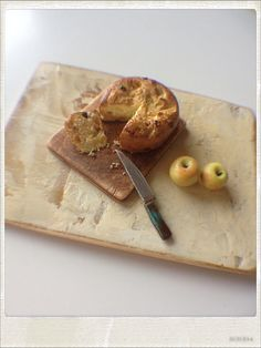 Sweet Apple Cake - Dollhouse Miniature Food via Etsy
