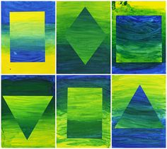 study: color mixing, color balance, and geometrics. skills: cutting, mixing, stroke