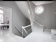 hoogglanswit + muisgrijs To My Daughter, Home And Living, Stairs, Home Decor, Stairway, Decoration Home, Room Decor, Staircases, Home Interior Design