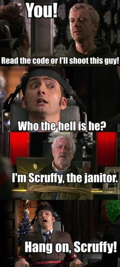 Image result for dr who im a janitor now quote