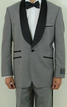 MEN'S TWO BUTTON GREY & BLACK TWO TONE TUXEDO: Men Suits Designer Men Wedding Suits   Suit2Suit.com