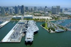 The USS Midway was the longest-serving naval carrier and also one of the biggest (the first carrier too big for the Panama Canal!). Now retired and docked in San Diego harbor, it's a popular museum, and the perfect way to spend an afternoon. Photo via theroamingboomers.com