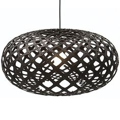 Black stained Kina Pendant by David Trubridge Design at Lumens.com