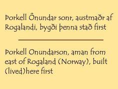 The Wonder of Runes: Runes 101 - Runes in History - The Faroese Stones