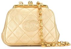 1990s Diamond Quilted Metallic Shoulder Bag Diamond Quilt, 1990s, Metallic, Monogram, Chanel, Michael Kors, Shoulder Bag, Pattern, Bags