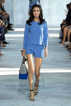 Gingham, which seems to be making a bit of a come-back this season, was used on party dresses, swingy sundresses and even a charming pair of shorts and matching top.