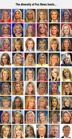 Fox News Has A Thing For Certain Type Of Women and Men. - You know, I noticed this too.  Hmmmm.  Hitler had a thing about blonde and blue eyes too, didn't he?  This alone makes me narrow my eyes at Fox.  Hmmmm.