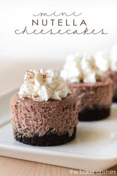 the baker upstairs: mini nutella cheesecakes