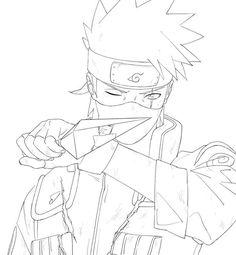 Naruto Sketch Drawing, Naruto Drawings, Anime Drawings Sketches, Anime Sketch, Anime Naruto, Naruto Uzumaki Art, Manga Coloring Book, Coloring Pages, Desenhos Clash Royale