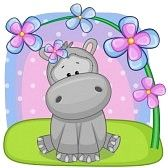 cute baby hippo drawing - Google Search