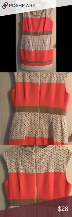 324dd580a362 Women s dress sleeveless coral This is the women s sleeveless dress coral  beige beautiful details zipper back