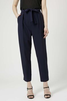 Photo 3 of Belted Crepe Peg Pants