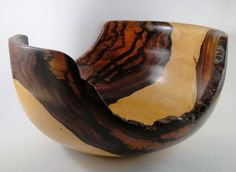 Wood Bowl No130303  Cocobolo Natural Edge by conreysa on Etsy, $140.00