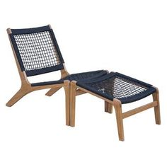 Highland Dunes Dundee Patio Chair with Ottoman Color: Black Patio Gazebo, Patio Chairs, Outdoor Chairs, Backyard, Gas Fire Pit Table, Solid Wood Tv Stand, Aluminum Patio, Corner Chair, Natural Area Rugs