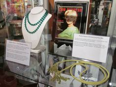 Marilyn's green beaded necklace and green Pucci belt at the Marilyn Monroe Exhibit, 2013.