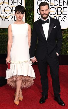 Jamie Dornan & Amelia Warner from Couples at the 2015 Golden Globes | E! Online