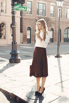 Kristen Vanderveen of Billy Reid in Charleston - The Bedford Skirt