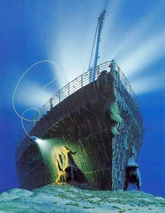 Underwater photography offers only very limited views of any wreck. Through the eyes of Ken Marschall we can see the Titanic on the bottom of the sea.  © Ken Marschall