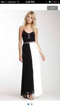 Gotta have black and white color block skirt