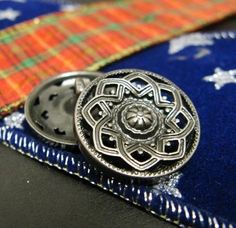 Mandala Metal Buttons  Lot 10 PIERCED Set FLOWER Fancy by Lyanwood, $6.00