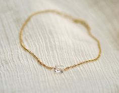 gold chain with crystal- bracelet
