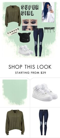 """Super girl"" by minela-a ❤ liked on Polyvore featuring NIKE, Lands' End and Karl Lagerfeld"