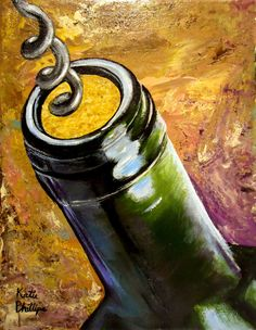 "Wine painting ""Uncorked"""