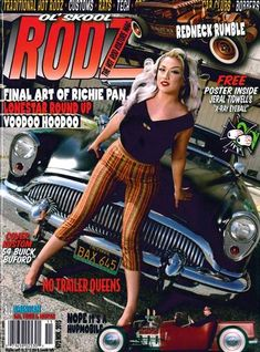 Devoted to all aspects of hot rod culture, Ol Skool Rodz magazine features event coverage, technical tips and how-toos, reviews of the newest gear on the market, listings of car clubs and events, photo spreads, and more. Car Girls, Buick, Hot Cars, Pin Up, Wonder Woman, Lifestyle, Girl Model, Magazine Covers, Spreads