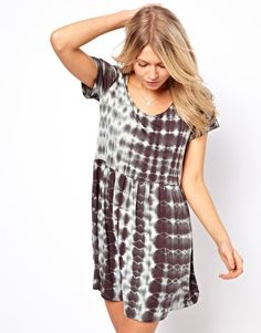 Oh My Love T Shirt Dress in Tie Dye
