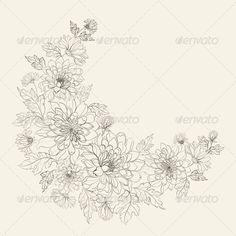 Flower Wreath of Chrysanthemum - Flowers & Plants Nature