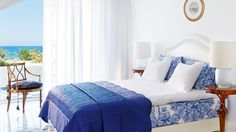 The Open Plan Junior Suites at Caramel luxury hotel offer luxurious accommodation in Crete with sea view. Book your suite Now! Hotel Wedding, Luxury Wedding, Fabric Wallpaper, Crete, Open Plan, Tile Floor, Tiles, Hotels, Flooring