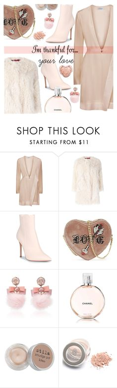 """I'm thankful for your love"" by freshprincesse ❤ liked on Polyvore featuring La Perla, Zadig & Voltaire, Gianvito Rossi, Kurt Geiger, Ranjana Khan, Chanel, Stila and Too Faced Cosmetics"