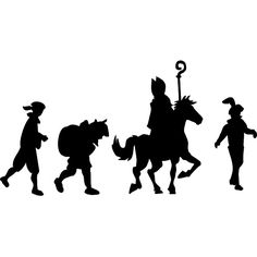 Raamstickers Sint en Piet Luge, Disney Home Decor, When I Grow Up, Christmas And New Year, Silhouette Cameo, Party Themes, Activities For Kids, Illustration, Prints