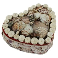 Heart Shaped Shell Trinket Box #huntersalley