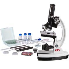 AMSCOPE-KIDS M30-ABS-KT1-W 120X-240X-300X-480X-600X-1200X 48pc Metal Arm Educational Kids Biological Microscope Kit: Amazon.com: Industrial & Scientific
