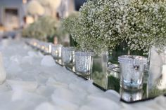 Elegant Baby's Breath table decor