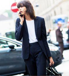 Pinstripe Suit - Paris Fashion Week