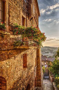 Sunset in San Casciano dei Bagni, Tuscany, Italy